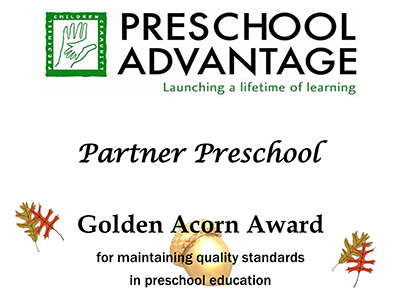 Preschool Advantage's Golden Acorn Award